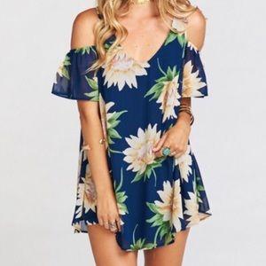 Show Me Your MuMu sunflower birdie dress blue